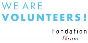 Logo We are volunteers Fondation Nexans