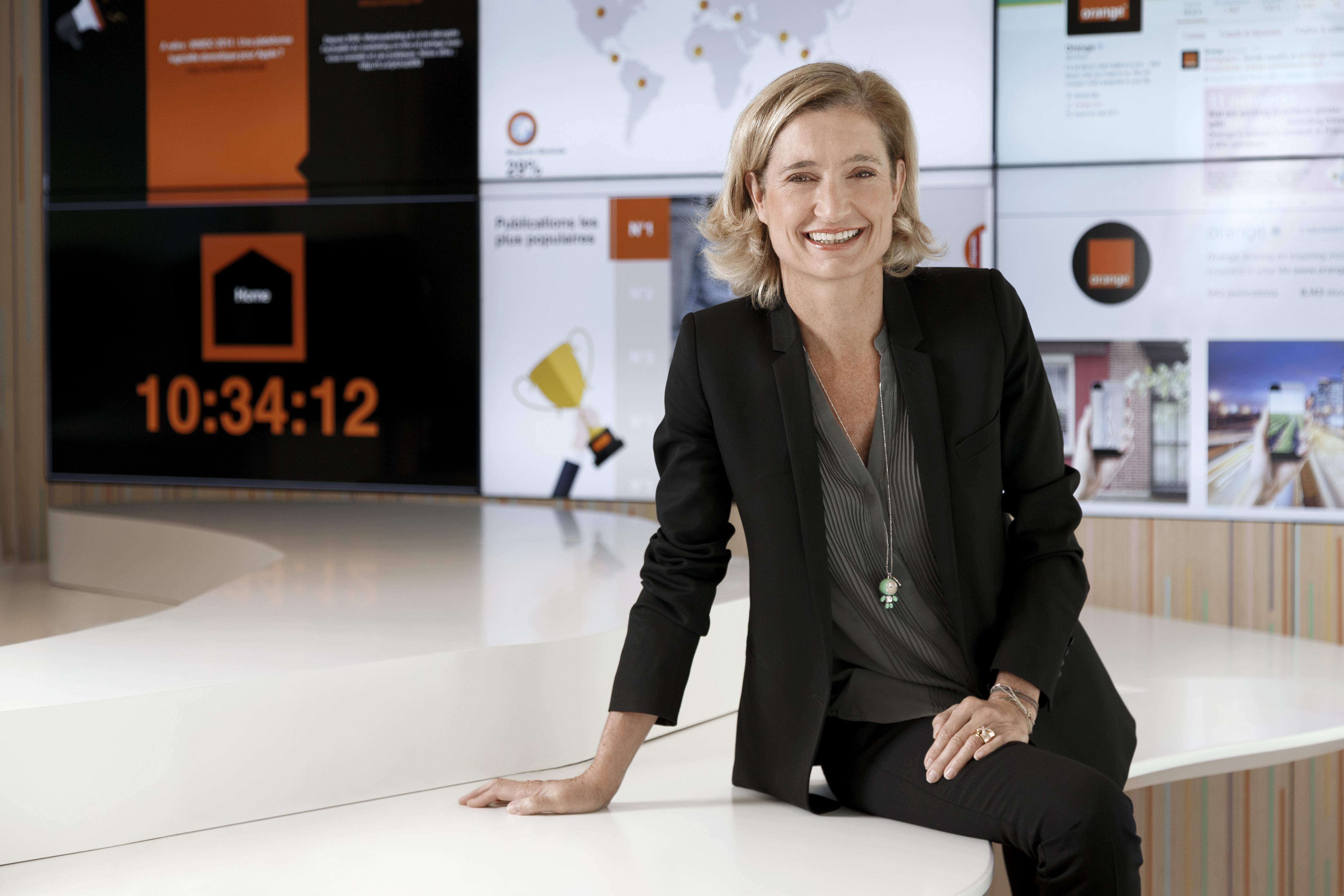 Béatrice Mandine, Directrice de la communication et de la marque Orange